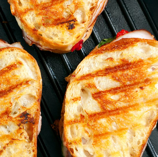sandwiches on panini press