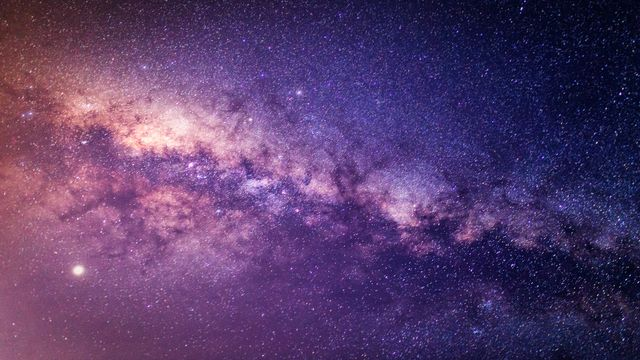 panorama milky way galaxy with stars and space dust in the universe at dark night