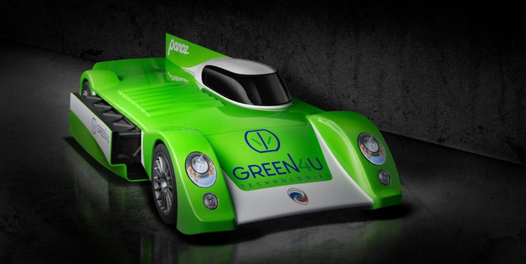 Panoz Electric Le Mans Race Car First Look - Panoz Electric Race Car