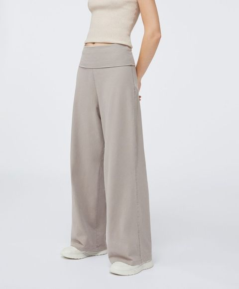 Este Es El Pantalon Ancho Elastico De Oysho Con El Bajo Regulable
