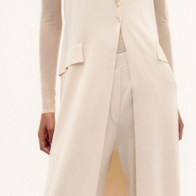 pantalón ancho de punto edición limitada de zara
