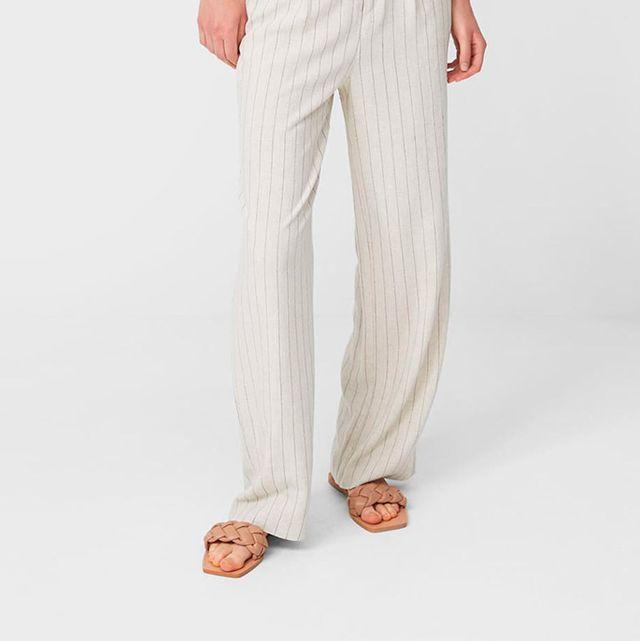 pantalones anchos rectos de stradivarius