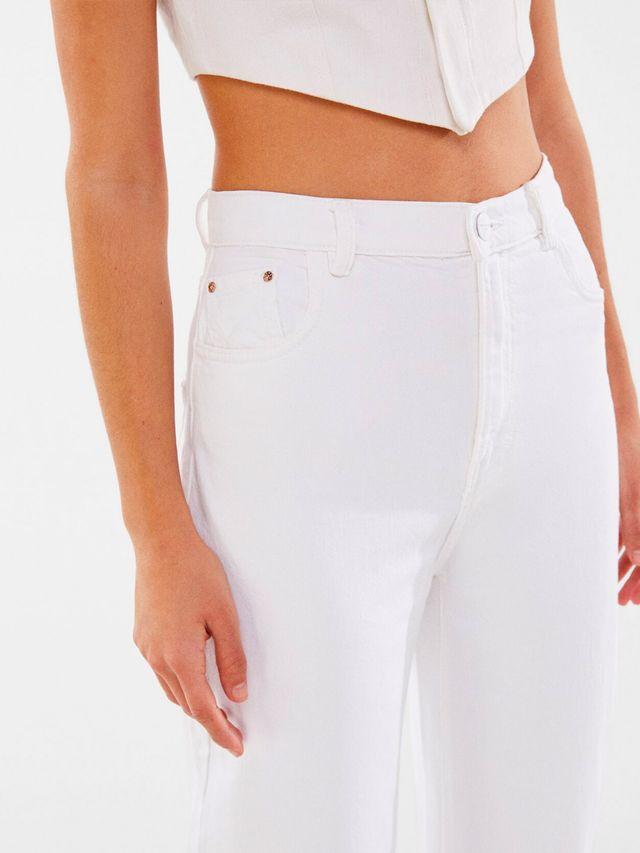 pantalon blanco bershka