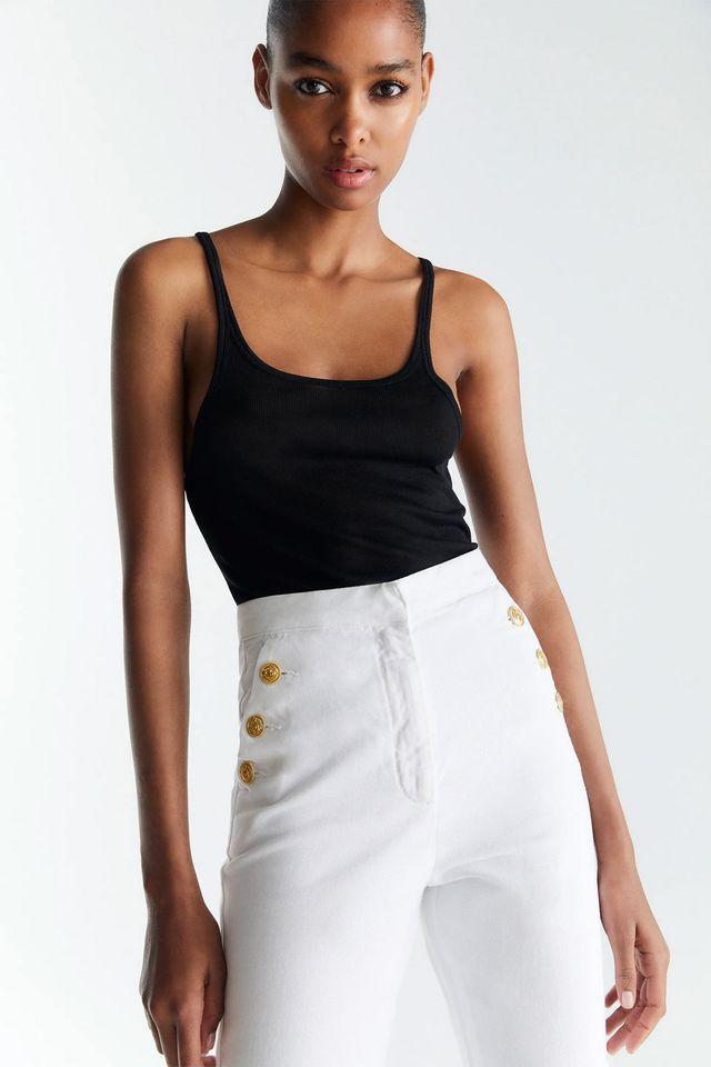 pantalón blanco marinero de zara