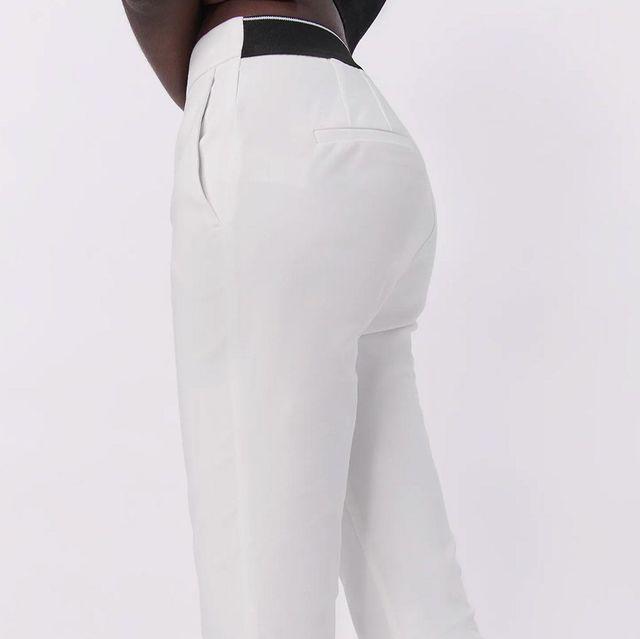 pantalón blanco de zara