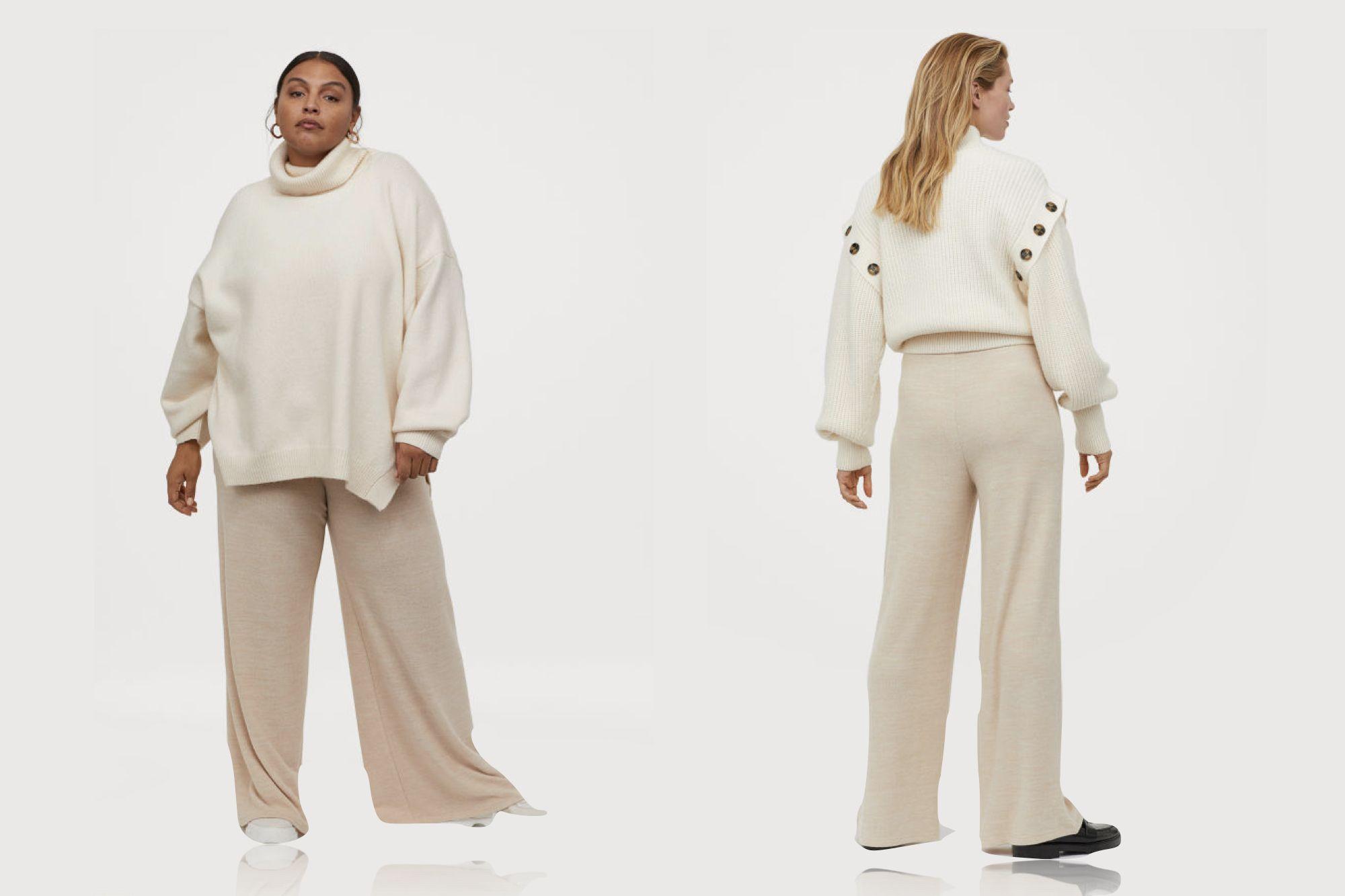 Los Disenadores De H M Aciertan Con Este Pantalon Palazzo De Punto Disponible En 11 Tallas Distintas Flipboard
