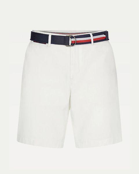 pantalones cortos blancos de tommy hilfiger