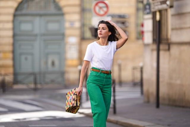 pantalones vaqueros verdes zara tendencia jeans