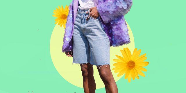 pantalone donna estate 2021, metti in scia dei bermuda, i pantaloni coti più eleganti e morbidi della bella stagione, ci sono anche in jeans e abbinarli è facilissimo
