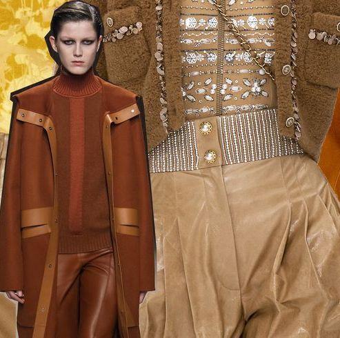 Clothing, Fashion, Yellow, Outerwear, Orange, Fashion design, Leather, Textile, Suit, Fashion model,