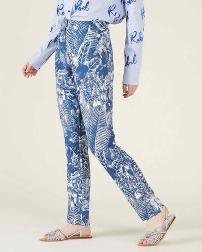 pantaloni a fiori eleganti