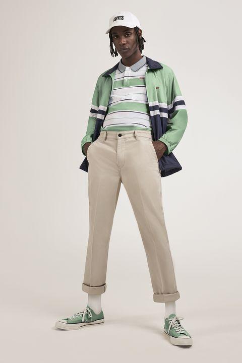 Standing, Green, Khaki, Joint, Uniform, Beige, Action figure, Trousers, Illustration, Fashion design,