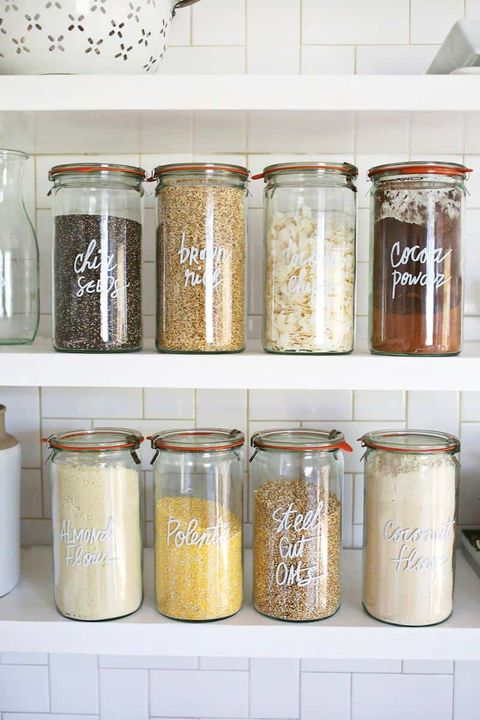 Dry goods in canisters