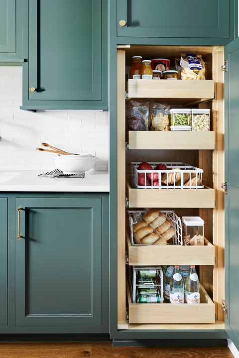 pantry closet with drawers