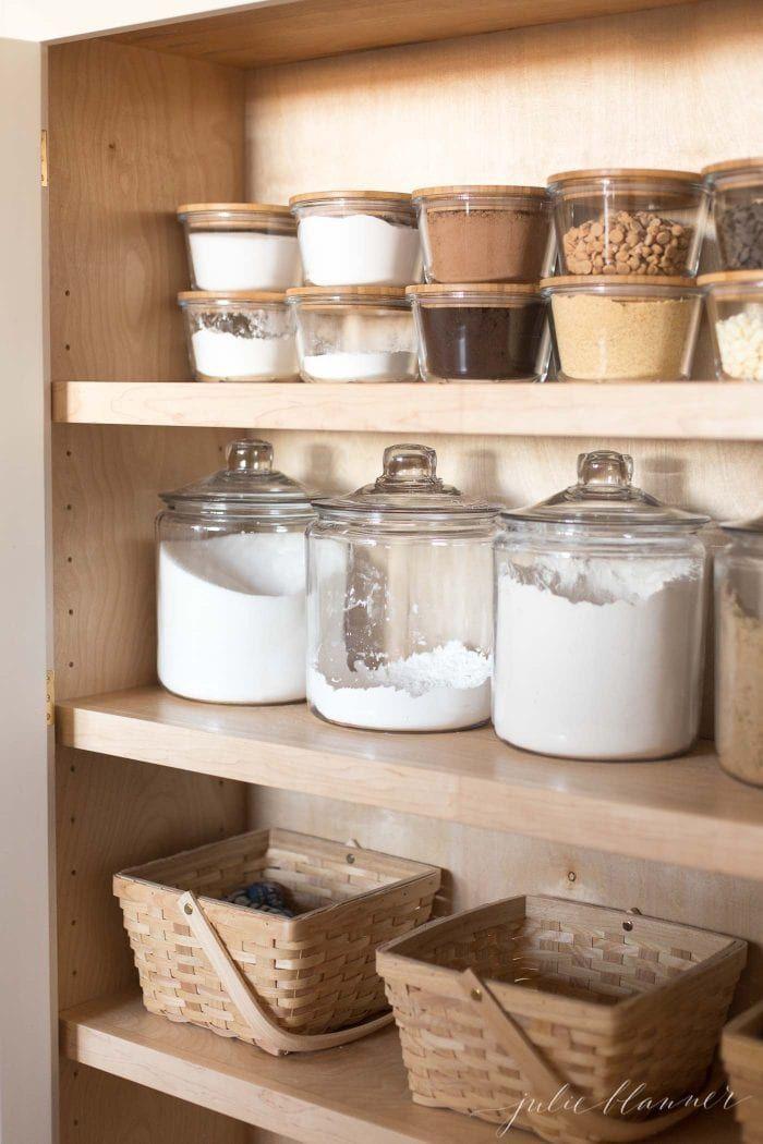 Organize Pantry With Mason Jars