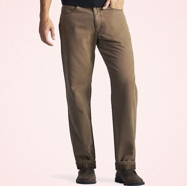 flannel lined jeans for men