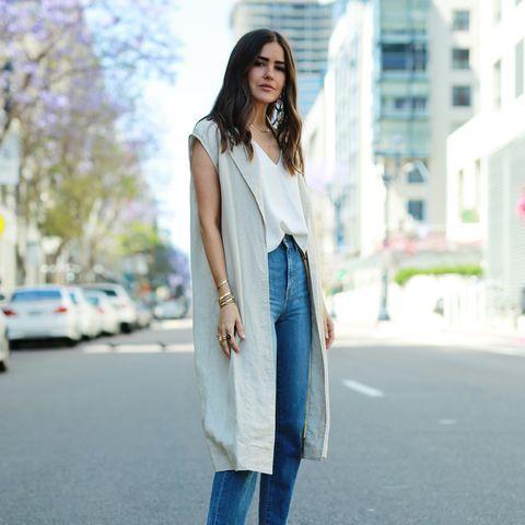 Clothing, White, Street fashion, Jeans, Denim, Fashion, Snapshot, Outerwear, Footwear, Dress,