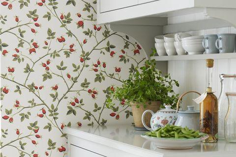 Cocinas Con Papel Pintado Decoracion De Cocinas - Azulejos-de-cocina-pintados