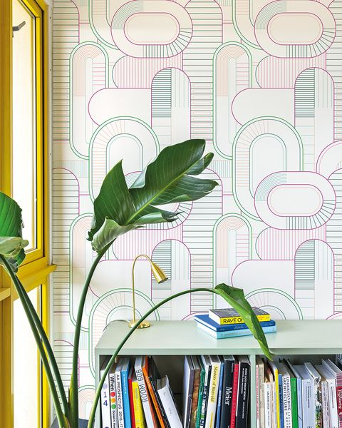 Lounge cu tapet Imprimare multicolor