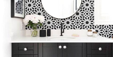 Baños con papel pintado - Ideas para el baño