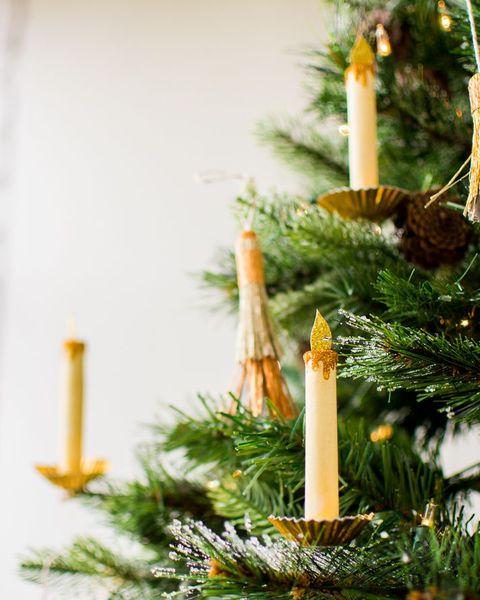 diy christmas ornaments  paper candle ornaments