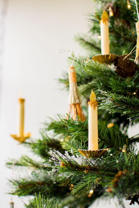Candle, Lighting, Christmas decoration, Tree, Christmas, Colorado spruce, Branch, oregon pine, Evergreen, Interior design,