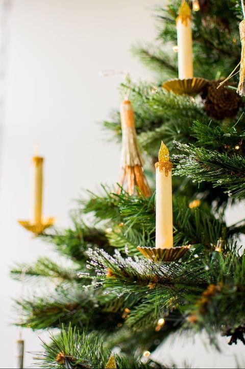 Paper Candle DIY Ornaments
