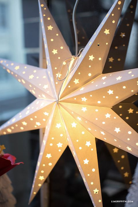 DIY Paper Star Window Decoration