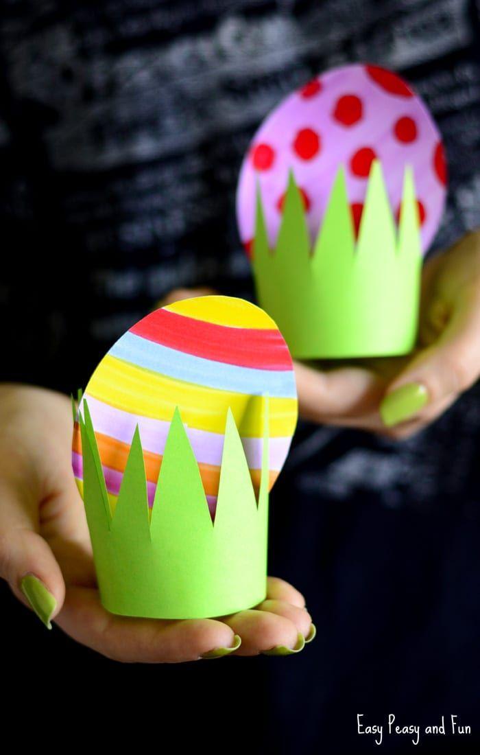 diy paper easter egg grass kids craft