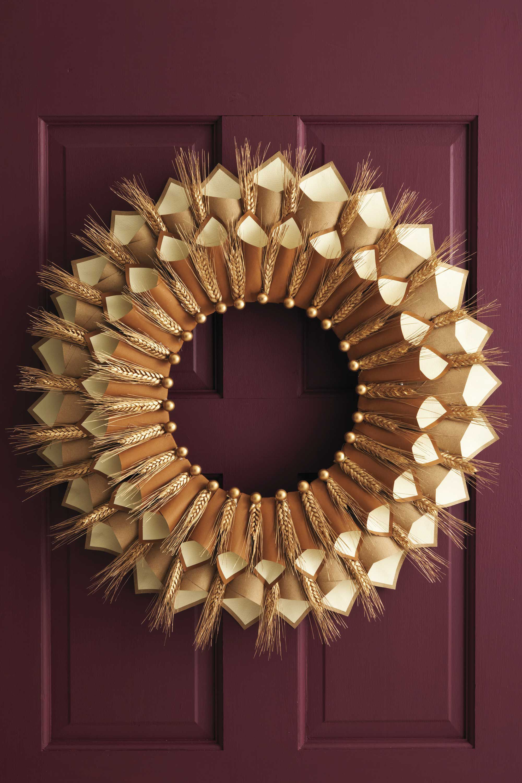 thanksgiving paper cone gratitude wreath