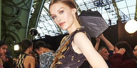 Fashion, Event, Fashion design, Design, Haute couture, Costume, Dress, Model, Flooring, Style,