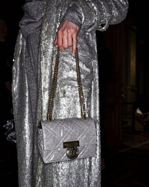 Fashion, Silver, Bag, Dress, Handbag, Haute couture, Outerwear, Fashion accessory,