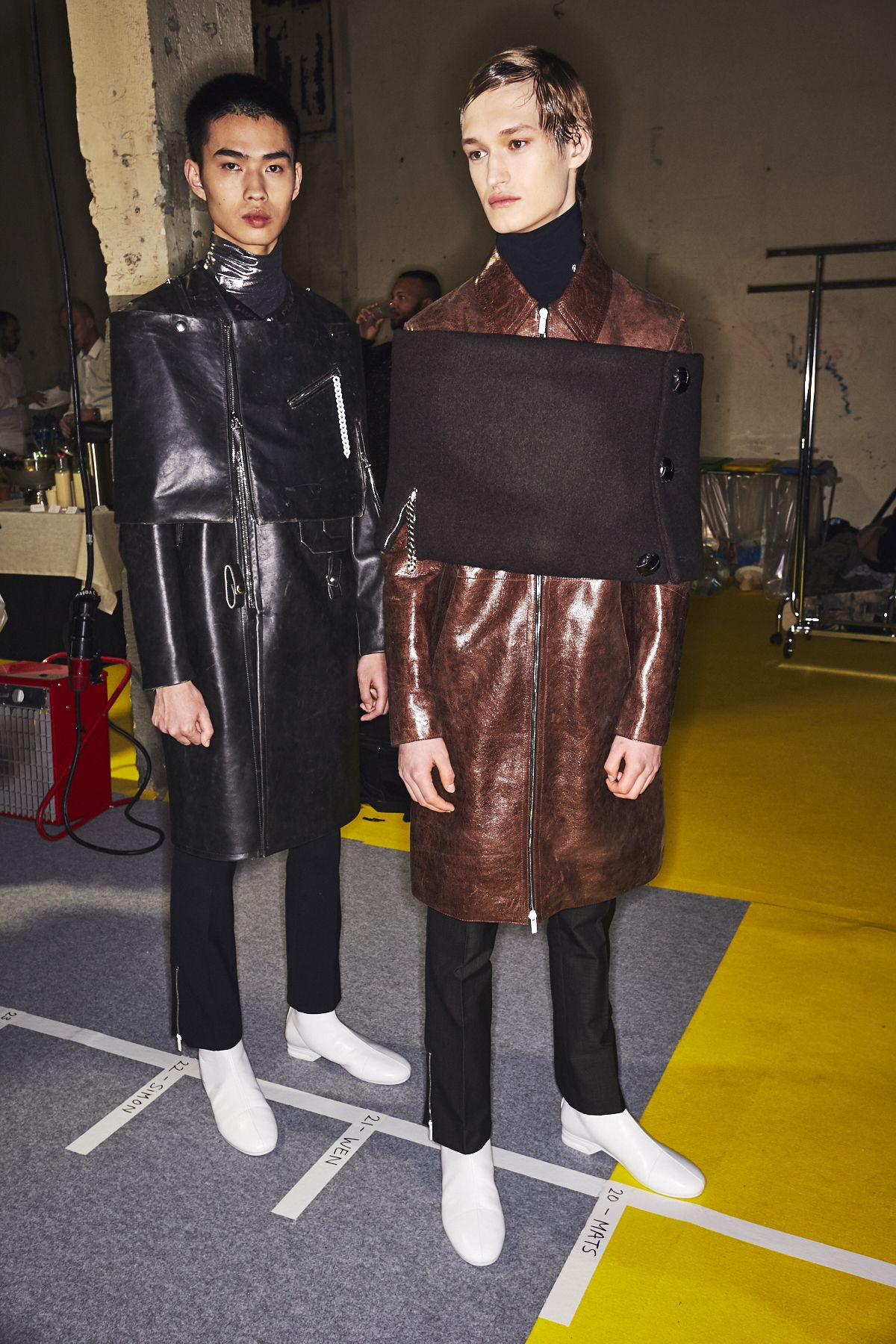 First Look Raf Simons Men S F W 2020 Paris Fashion Week Exclusive Backstage Photos From Raf Simons Men S Fall Winter 2020