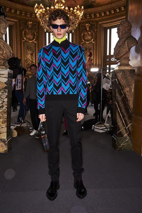 Fashion, Cobalt blue, Runway, Electric blue, Fashion show, Human, Haute couture, Fashion design, Street fashion, Outerwear,