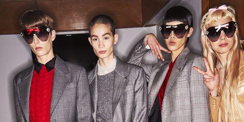 Eyewear, Fashion, Street fashion, Fur, Footwear, Cool, Joint, Outerwear, Leg, Sunglasses,
