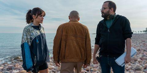"""Macarena García y Fernando González Molina en el rodaje de """"Paraíso"""""""