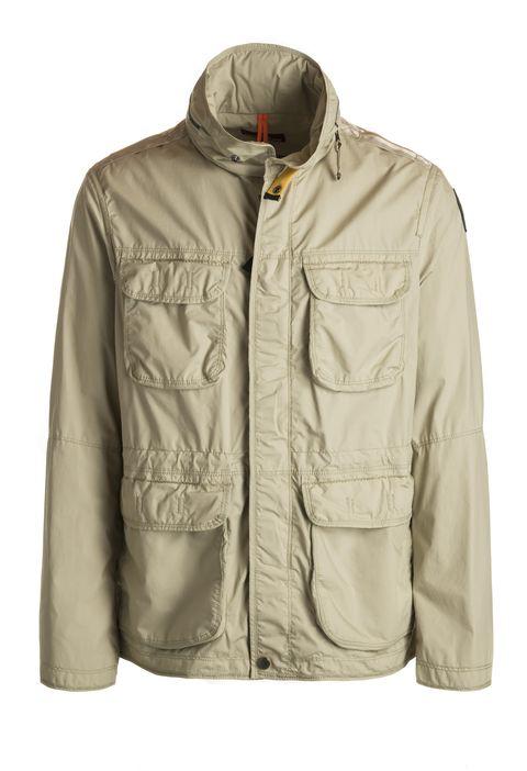 Clothing, Jacket, Outerwear, Sleeve, Khaki, Beige, Pocket, Collar, Windbreaker, Top,
