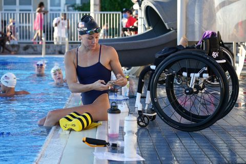 us para athletes and swimmers media day
