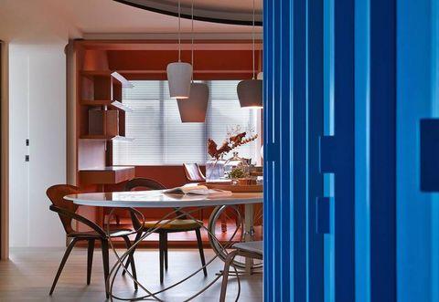 Foto Pareti Colorate : Pareti colorate per una casa a taipei ispirata alla moda francese