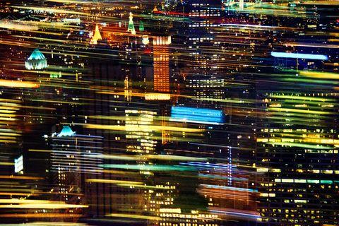 Urban area, Light, Night, Metropolis, City, Human settlement, Metropolitan area, Cityscape, Line, Architecture,