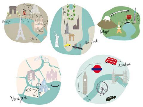 Camminare 5 nuovi itinerari a Parigi, Londra, Venezia, Tokyo e New York