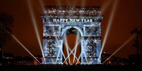paris at new year's eve