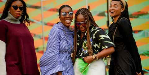 Smile, People, Happy, Community, Facial expression, Tradition, Sunglasses, Cornrows, Laugh, Makeover,