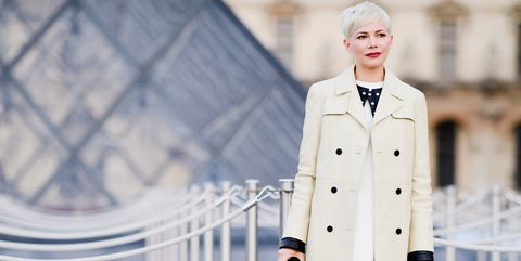 Clothing, White, Street fashion, Coat, Fashion, Trench coat, Outerwear, Overcoat, Collar, Formal wear,