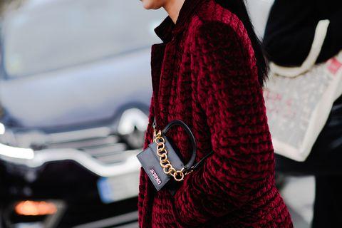 Red, Fashion, Design, Outerwear, Textile, Street fashion, Tartan, Pattern, Carmine, Plaid,