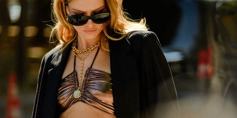 Eyewear, Clothing, Fashion model, Street fashion, Sunglasses, Fashion, Beauty, Outerwear, Shoulder, Cool,