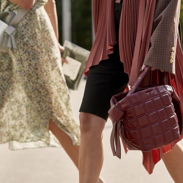 Red, Clothing, Street fashion, Fashion, Human leg, Waist, Footwear, Leg, Outerwear, Leather,