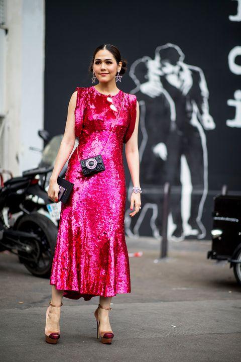 af1e6e6e4 Street Style Paris Haute Couture - Vestidos tendencia Paris Haute ...