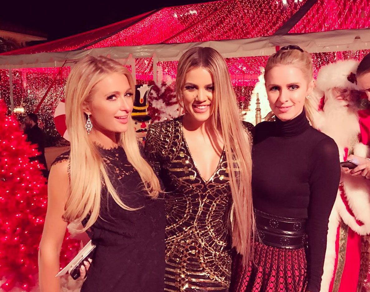 UPDATED] Paris Hilton Went to the Kardashian Christmas Party - Kim ...