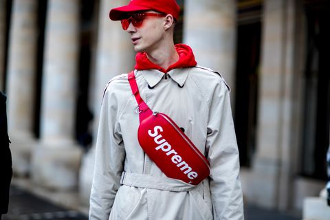 Clothing, Street fashion, Red, Outerwear, Fashion, Sleeve, Jacket, Uniform, Hood, Windbreaker,